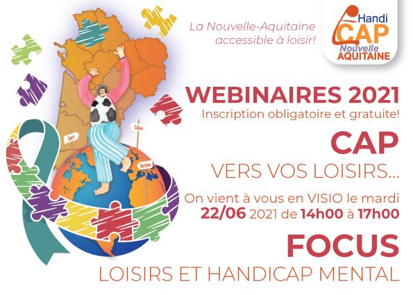 CAP vers vos loisirs ! Focus Loisirs et Handicap Mental le 22 juin 2021 !